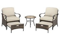 5PC OUTDOOR PATIO SEATING SET(NOT ASSEMBLED)