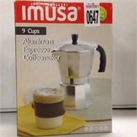 IMUSA 9 CUPS ALUMINUM EXPRESSO COFFEEMAKER