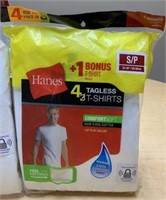 3 Packages of Hanes White T-Shirts