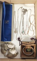 Lot of Silver Jewelry some Sterling