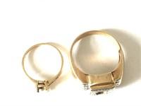 2 Gold Rings (scrap) 10k and 14k