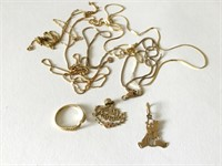 Lot of 14k Gold Chains and Charms