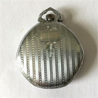 Elgin Pocket Watch in Art Deco Case