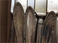 Box of Assorted Silver Plate Flatware