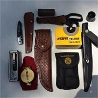 Box of Hunting and Fishing Items
