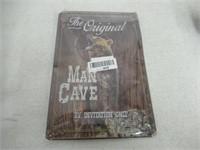 """As Is"" SUMIK MAN Cave Bear Metal Tin Sign,Vintage"