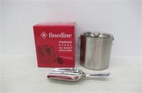 FineDine Brushed Stainless Steel Double-Walled Ice