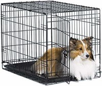 """New World 30"""" Folding Metal Dog Crate, Includes"""
