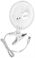 Comfort Zone 6 Inch Clip-On Fan Great for Table