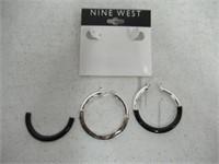 """""""As Is"""" Nine West Amara Drop Hoop Earrings"""