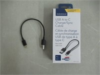 """Insignia 6"""" A to C Charge/Sync Blk"""