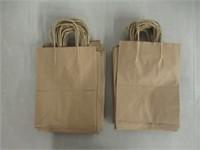 "50-Pk 8""x4.75""x10"" Brown Kraft Paper Bags Shopping"