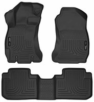 Husky Liners 99881 WeatherBeater Black Front and