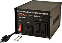 Simran AC-200 Step Up/Down Voltage Converter