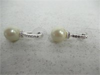 "Carolee ""Pearl and Crystal Basics"" Drop Earrings"