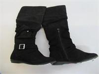 L&A Women's 8 M US Slouch Buckle Boots, Black