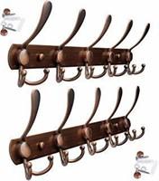 WEBI Coat Rack Wall Mounted - (30 Hooks) Heavy