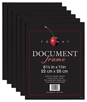 MCS 8.5x11 Inch Format Frame 6-Pack, Black