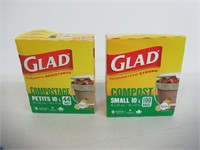 (2) Glad Compost Bags Small 10L-100 Bags