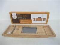 Bambusi Premium Bamboo Bathtub Tray - Natural Wood