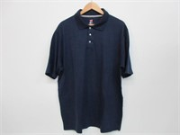 Hanes Men's X-Large X-Temp Performance Polo, Navy