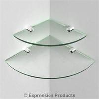 (2) John Sterling KT-0134-1212SN Glass Corner