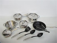 """""""As Is"""" Lagostina 16-PC Stainless Steel Kitchen"""