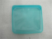 Stasher Reusable Silicone Aqua Food Bag, Blue