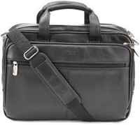 Kenneth Cole REACTION Leather Briefcase Messenger