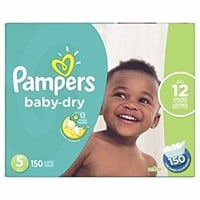 Pampers Diapers Size 5, Baby Dry Disposable Baby