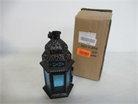 (2) Koehler 37438 10.25 Inch Blue Glass Moroccan