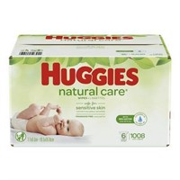 Huggies Natural Care Unscented Baby Wipes,