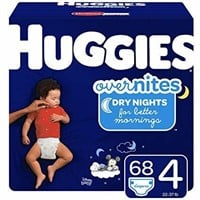 HUGGIES OverNites Night Time Baby Diapers, Size 4,