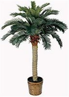 Nearly Natural 5043 Sago Silk Palm Tree, 4-Feet,