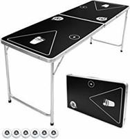 GoPong 6-Foot Portable Folding Beer Pong/Flip Cup