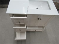 """""""As Is"""" Simpli Home Chelsea 36"""" Right offset Bath"""