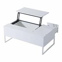 HOMCOM Foldable Wood Lift Top coffee Table