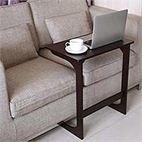 HOMFA Bamboo Sofa Side Table Console Snack End