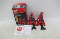 Torin Big Red Steel Jack Stands: 3 Ton Capacity, 1