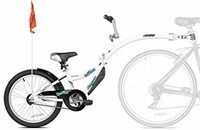 WeeRide Co-Pilot Bike Trailer, White