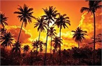 J.P. London Design Fire Sunset Tropical Beach