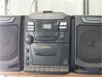 Audiovox stereo, cassette recorder with cassettes