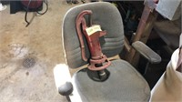 """Red antique water pump 19"""" tall"""