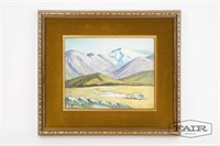 Landscape Painting on Board by Nell Witters