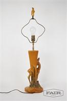 Haeger Gazelle Lamp with Original Finial