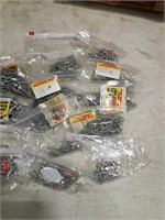 assortment of different sized hooks