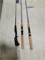 2-South Bend Micro Lite 5' fishing pole & other