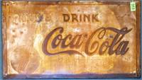 Large Vintage Coca-Cola Metal Sign