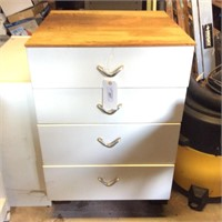 Metal Storage Drawers and Contents