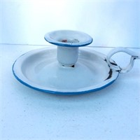 Blue and White Porcelain Candle Holder